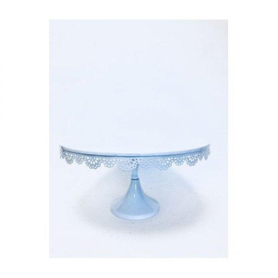Platou Metal Pentru Prajituri Diametrul 35cm Alb