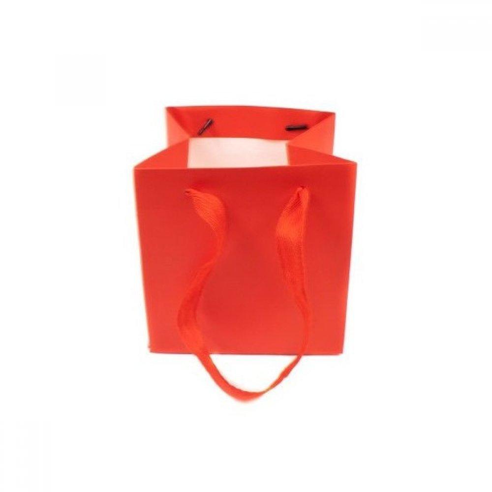 Pungi Carton Pentru Ghivece Flori Rosu Si Alb 15Cm/15Cm/15Cm