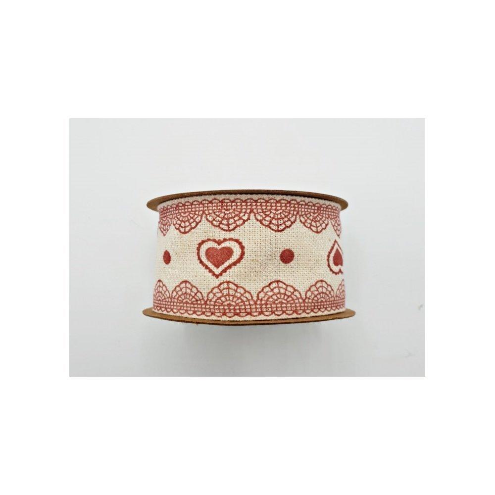 Accesorii florale Rola inima rosie Love Lace