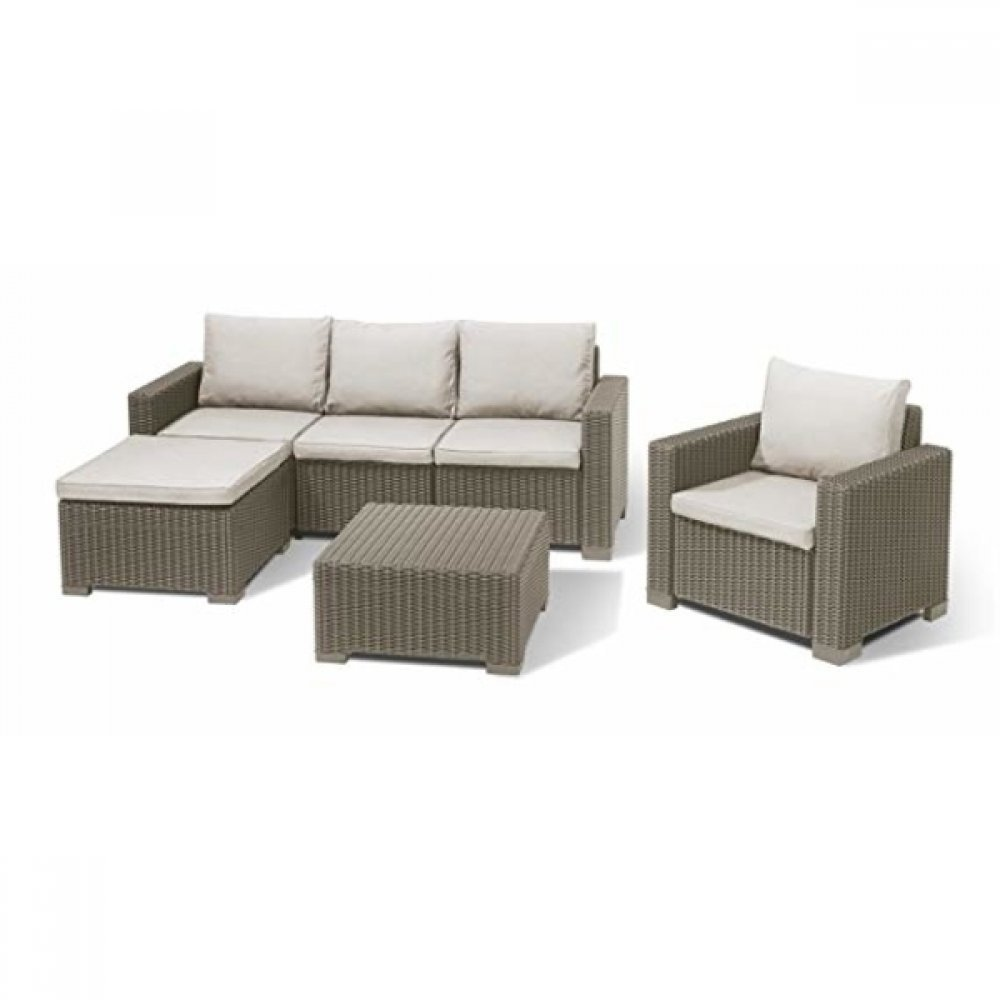 Set mobilier de gradina Moreea Cappuccino/Nisipiu