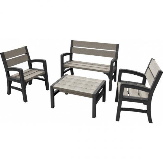 Set mobilier gradina WLF BENCH - SET Grafit/ Gri- maro