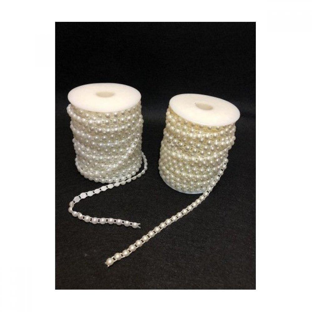 Sirag Jumatati Margele Plastic Perla 0.8cm/17m