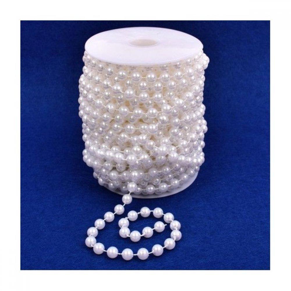Sirag Margele Plastic Perla 0.8cm/17m