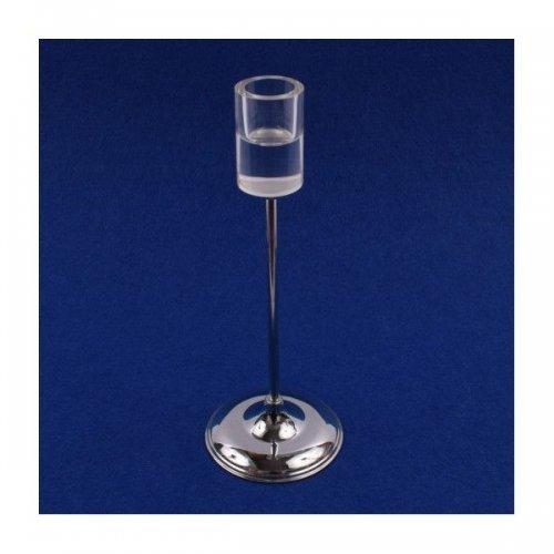 Suport Lumanare Cu Picior Metal Cu Sticla Cilindrica 22Cm