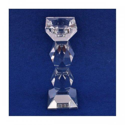 Suport Lumanare Sticla Fatetat Hexagon 20.3Cm