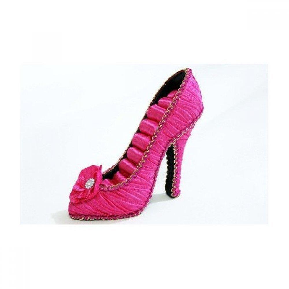 Suport Pentru Bijuterii In Forma De Pantof Uni Cu Floare