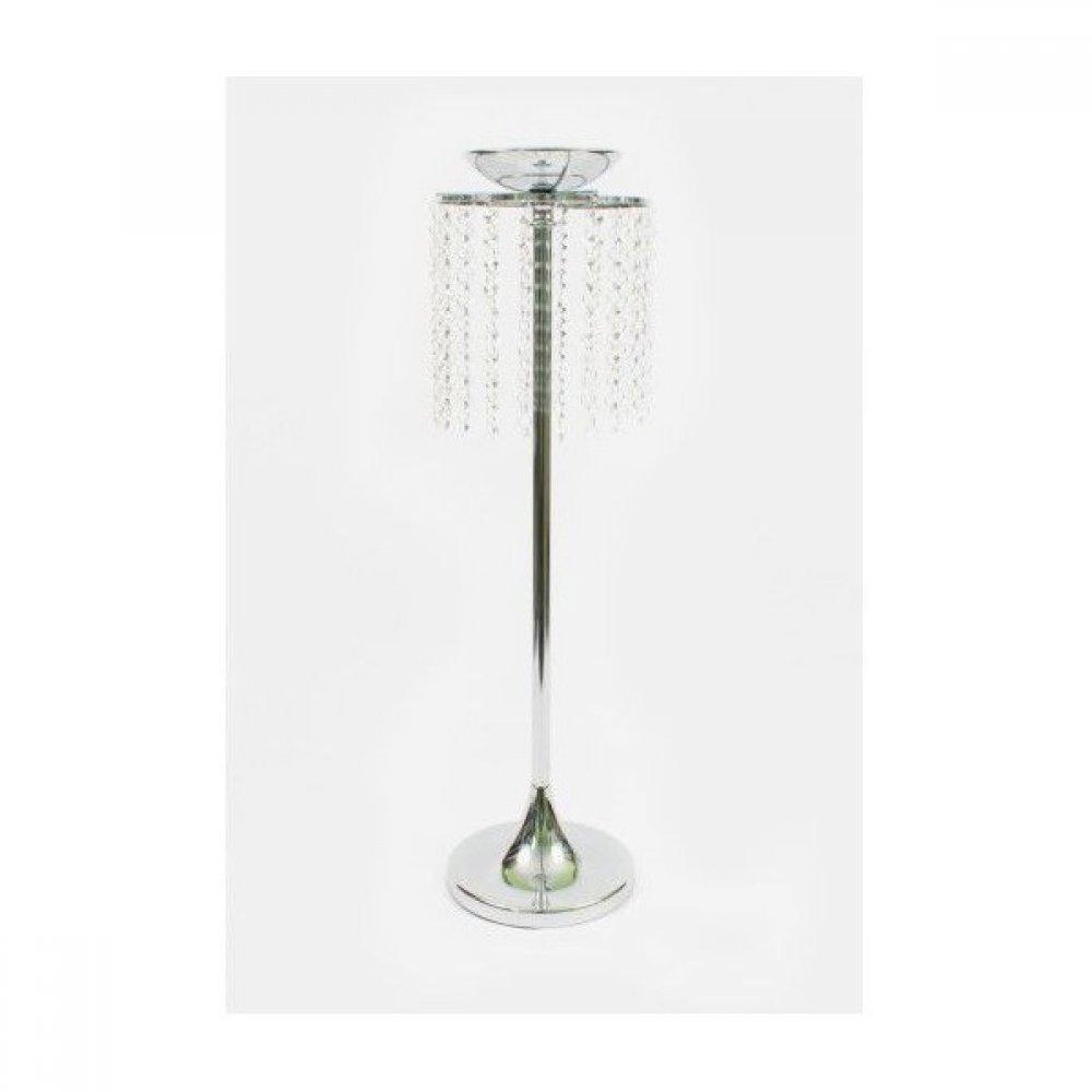 Suport Pentru Flori Metal Argintiu 70cm