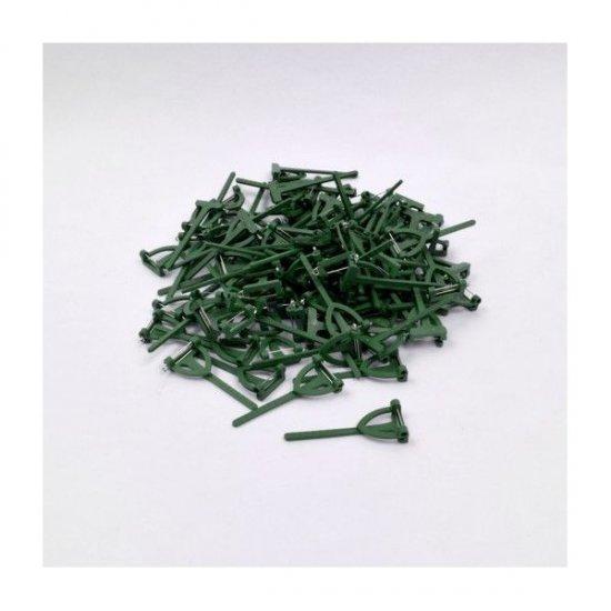 Suport Plastic Pentru Cocarde in Forma de T 6.5cm/2.5cm 100/SET