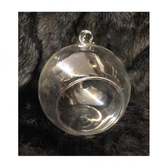 Vas Sticla Forma Glob 10cm