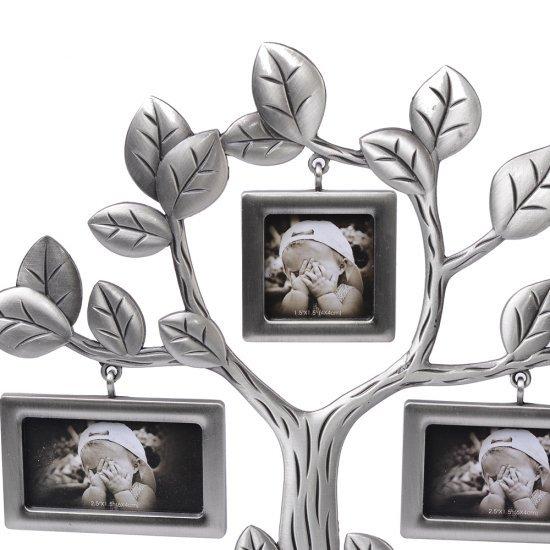 Copacel argintiu cu 7 rame foto patrate