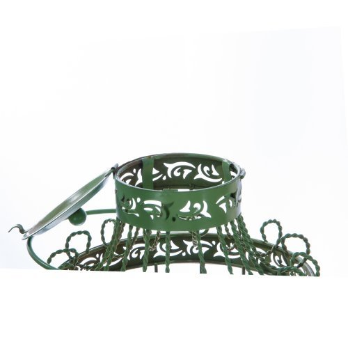 Colivie verde, design vintage, suport lumanare cu agatatoare