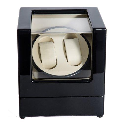 Cutie Watch Winder Neagra Pentru 2 Ceasuri Automatice