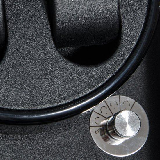 Cutie visinie pentru 5 ceasuri, interior din piele neagra, si cheita