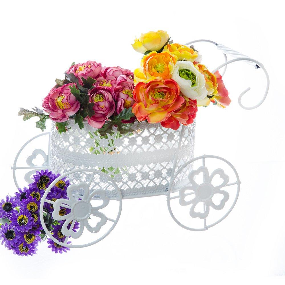 Suport Flori sub forma de carucior de copii