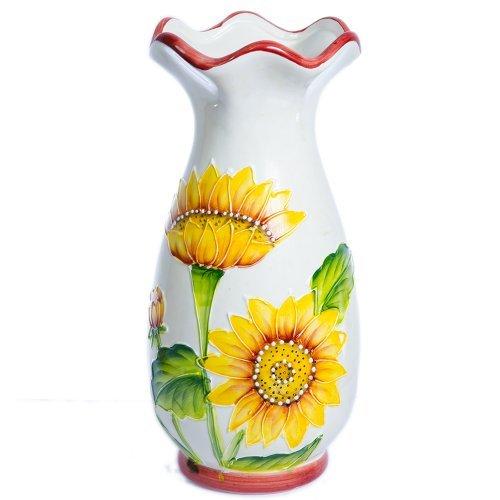 Vaza ceramica model floarea soarelui