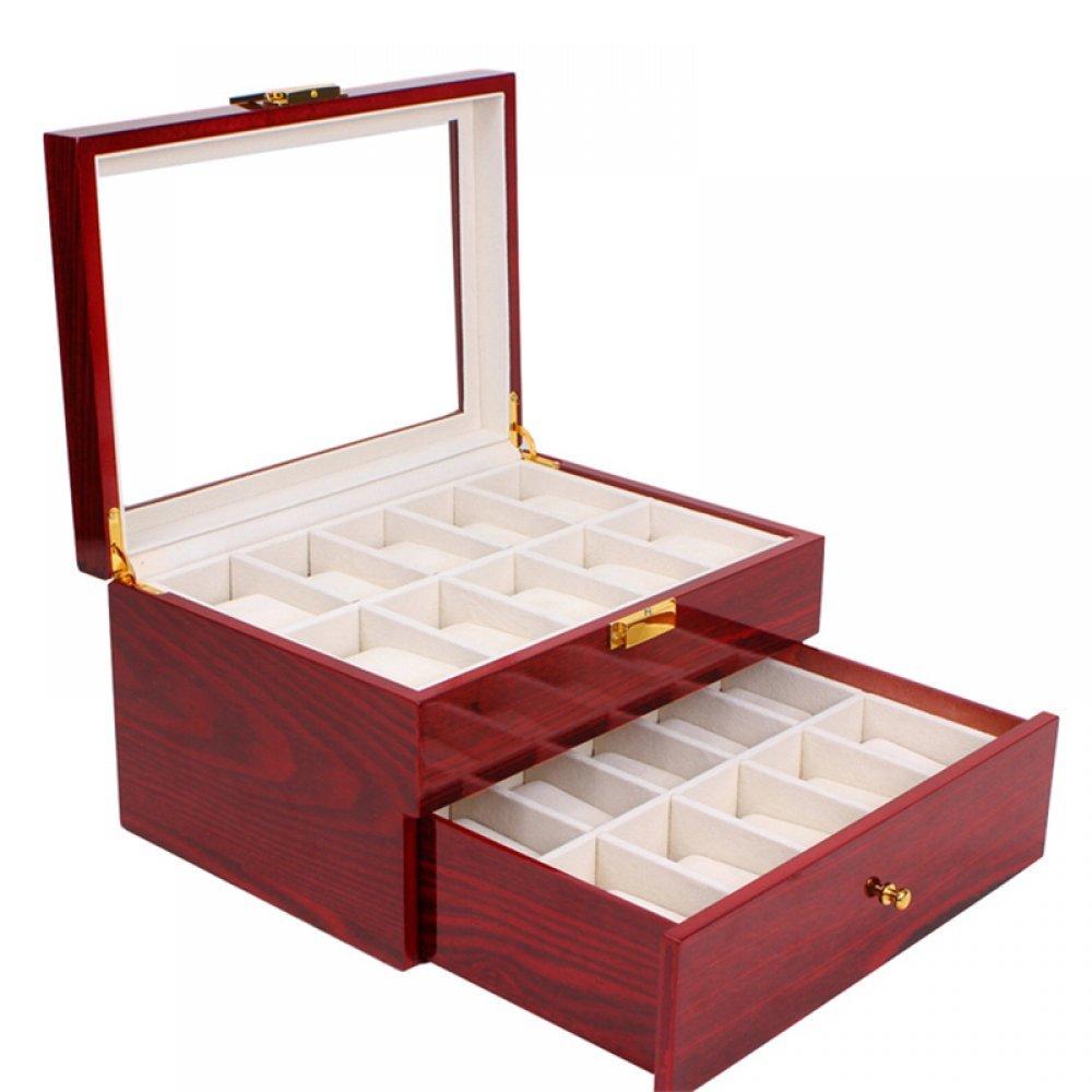 Cutie deosebita din lemn lacuit pentru 20 de ceasuri