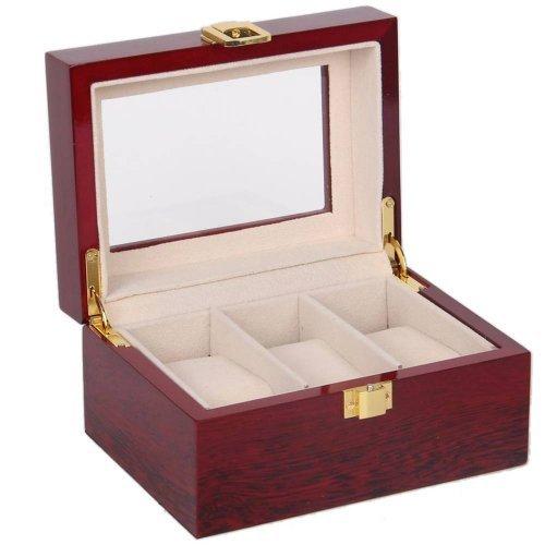 Cutie visinie din lemn pentru trei ceasuri