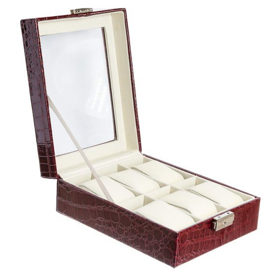 Cutie visinie inchis model croco pentru 6 ceasuri