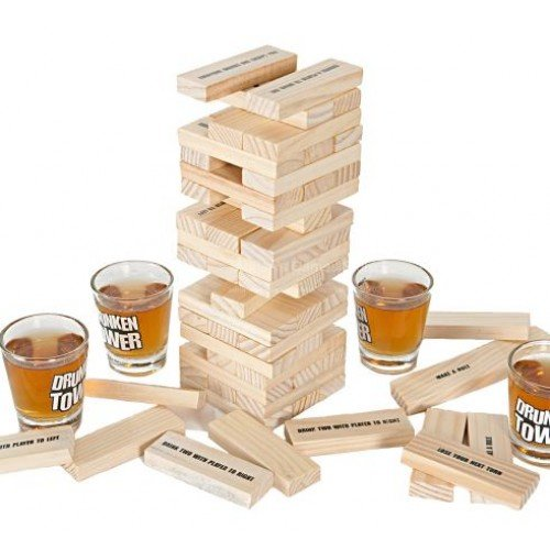 Joc de Petrecere Drunken Tower din Lemn