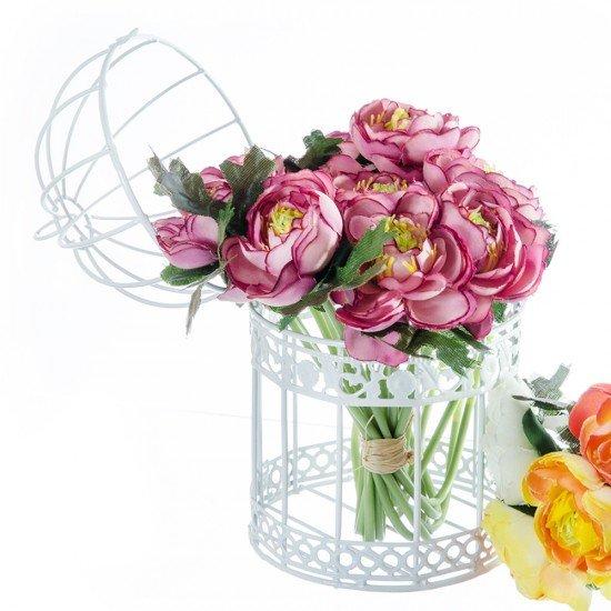 Set 2 colivii decorative albe pentru aranjamente florale