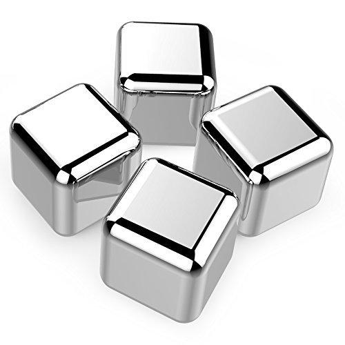 Set 4 Cuburi Reutilizabile Din Otel Inoxidabil Pentru Racire Bauturi