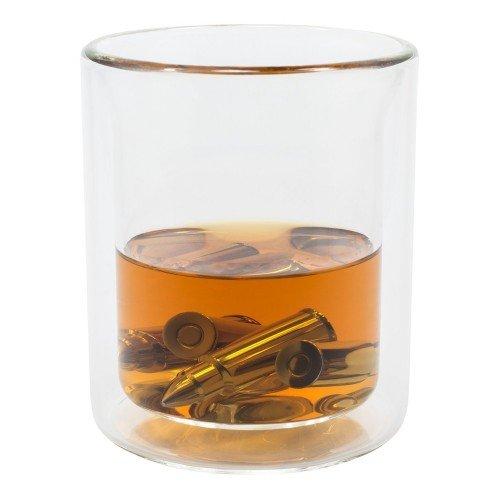 Set Cadou Barbati 6 gloante din otel inoxidabil pentru racit bauturi