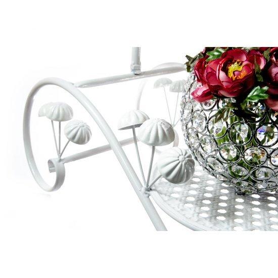 Sezlong cu Umbreluta Decorativa, Suport Aranjamente Florale