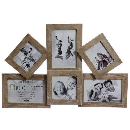 Tablou Cu 6 Rame Foto Vintage din Lemn