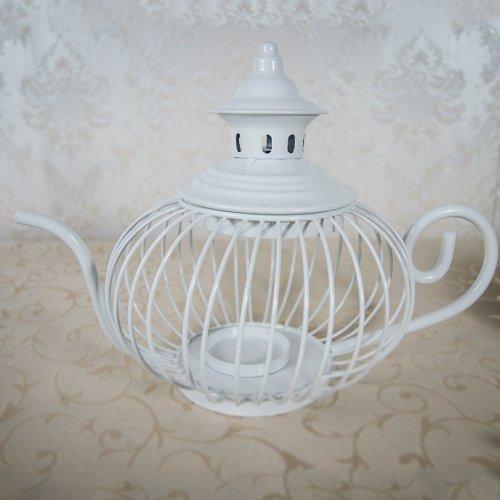 Ceainic din metal - suport lumanare sau flori