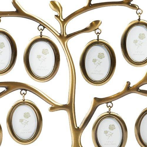 Copacel auriu cu 12 rame foto ovale aurii