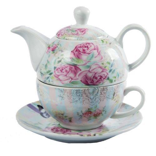 """Set Ceai """"Tea for One"""" cu ceainic, cana si farfurie"""
