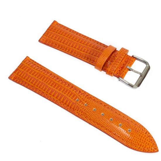 Curea din piele naturala culoarea portocaliu