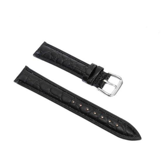 Curea pentru ceas model croco culoare neagra
