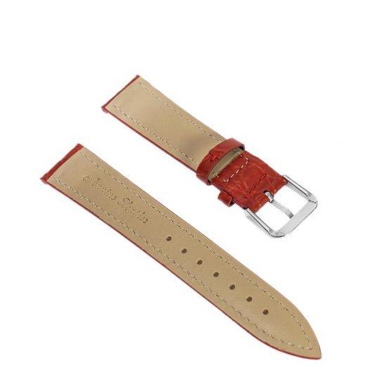 Curea pentru ceas model croco culoare rosie