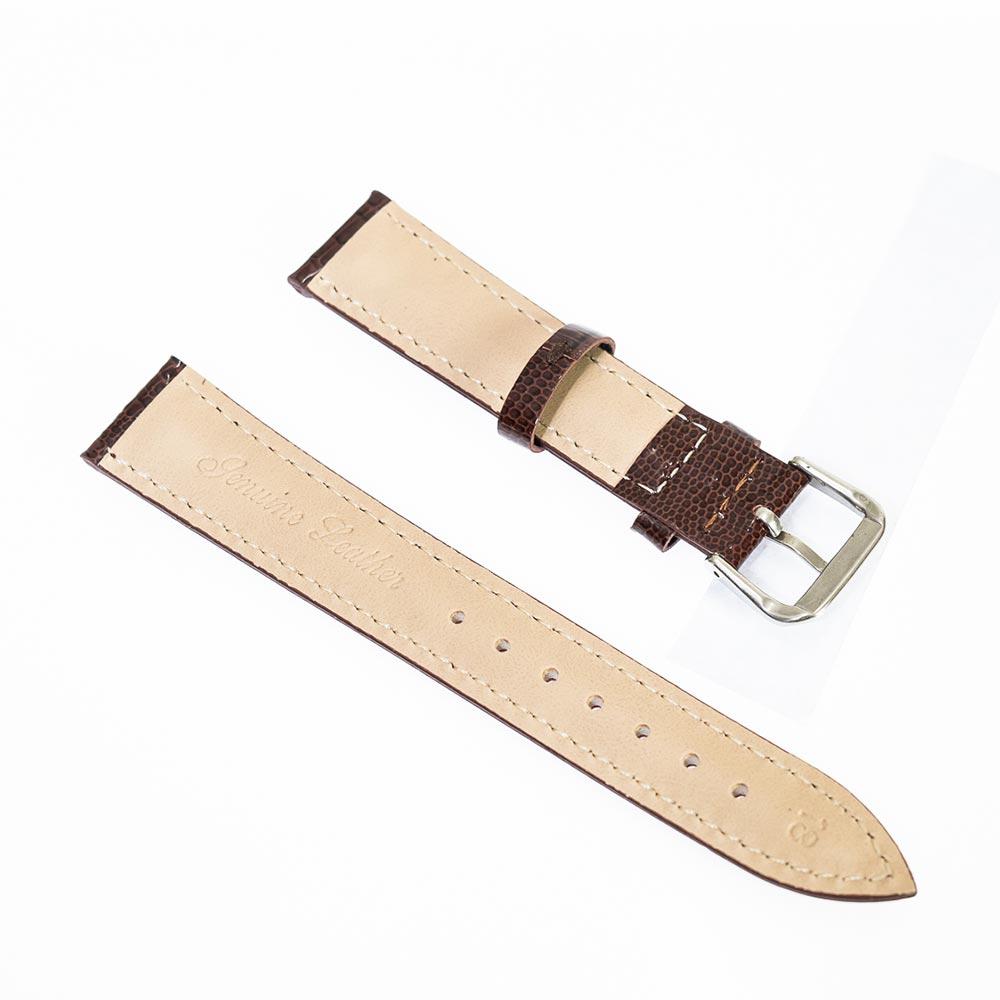 Curea pentru ceasuri din piele naturala maro model piele sarpe