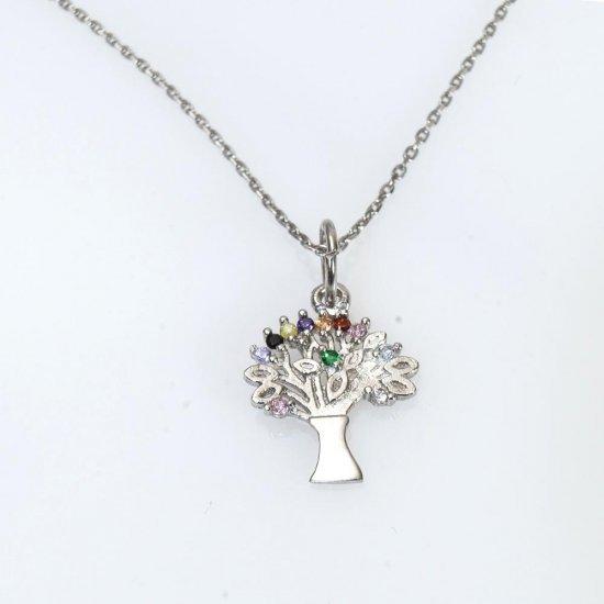 Pandantiv din argint copacul vietii cu lant