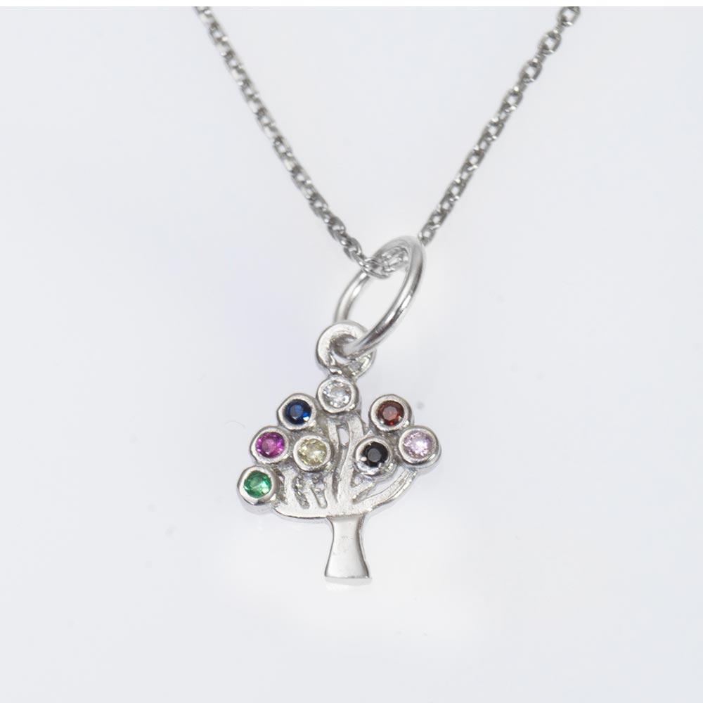 Pandantive din argint cu copacul vietii cu strasuri colorate