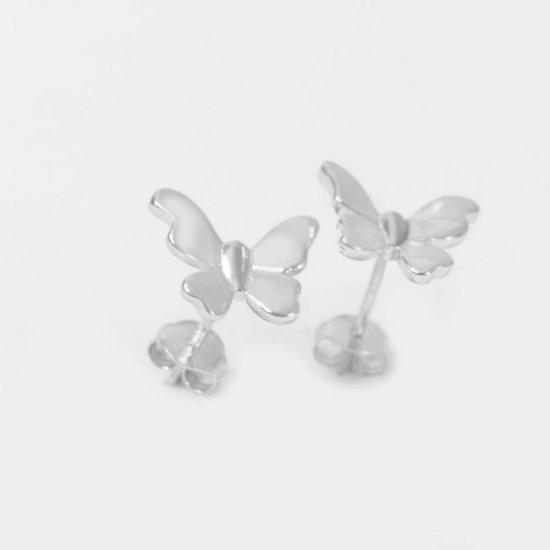 Set bijuterii argint pandantiv si cercei model fluturi