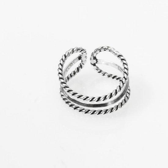 Inel din argint reglabil model antichizat