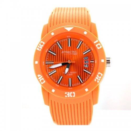 Ceas barbatesc portocaliu din silicon