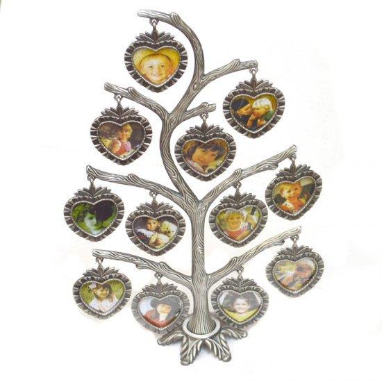 Copac din antimoniu cu 12 rame pentru fotografii