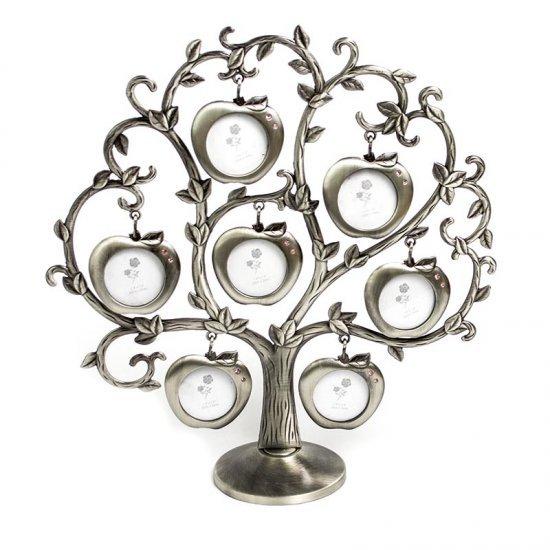 Copacel decorativ, cu 7 rame foto sub forma unor mere