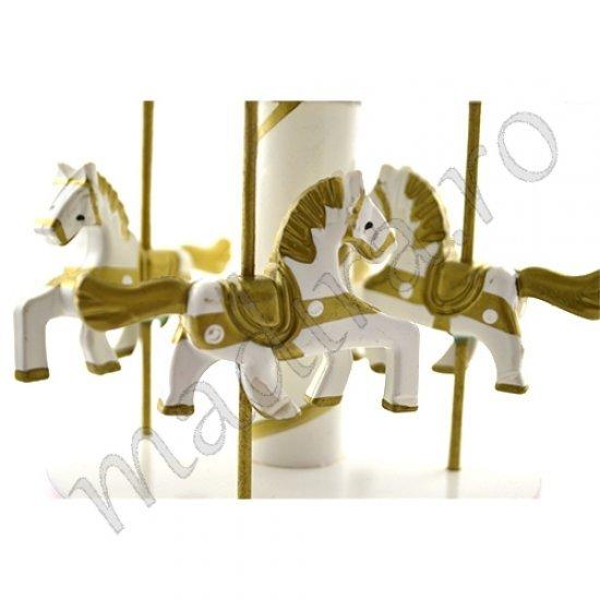 Cutiuta muzicala - carusel cu 4 cai albi