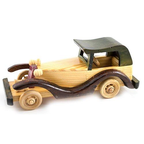 Masina de epoca cu capota, macheta din lemn
