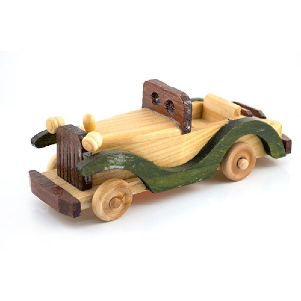 Masina vintage decapotata, macheta din lemn