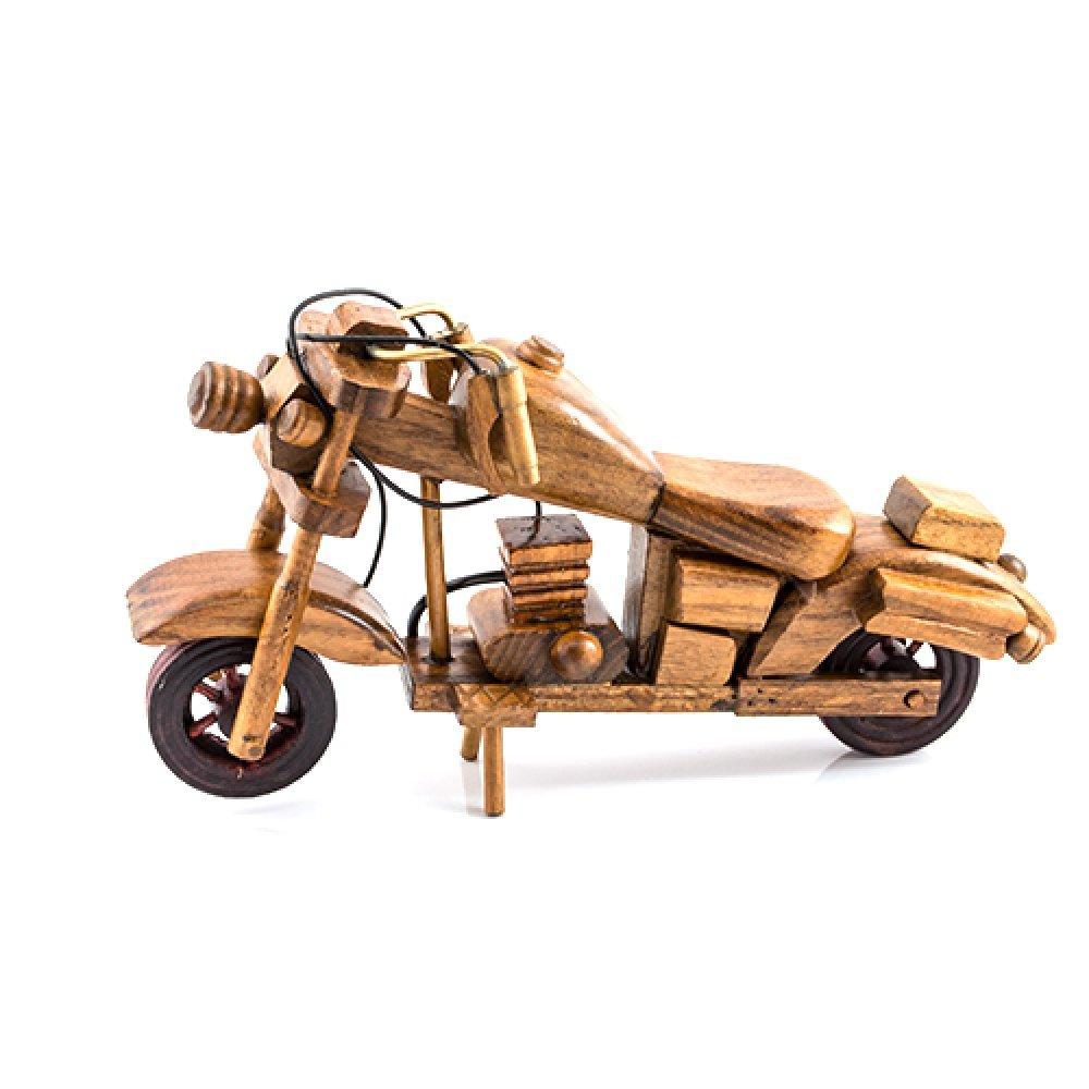 Motocicleta din lemn maro, macheta