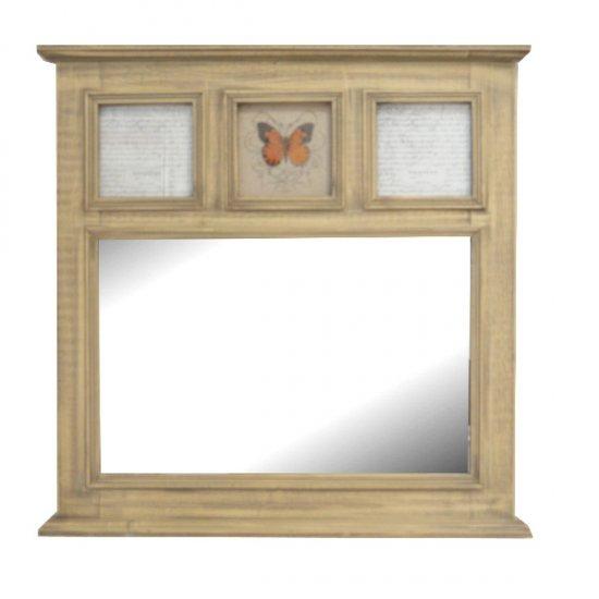 Oglinda de perete patrata cu spatii pentru fotografii