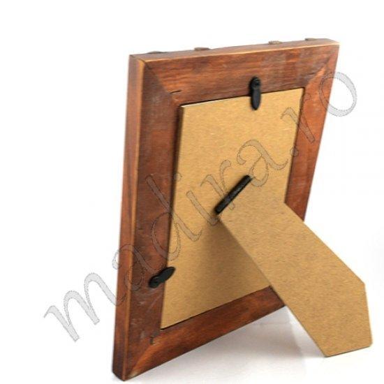 Rama foto din lemn si ratan