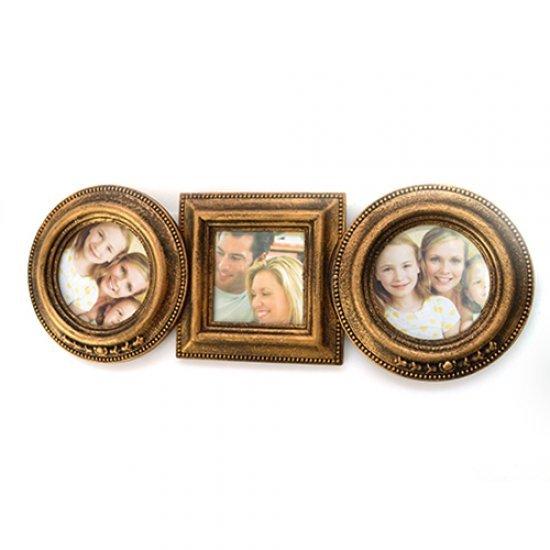 Rama foto family aurie cu 3 fotografii