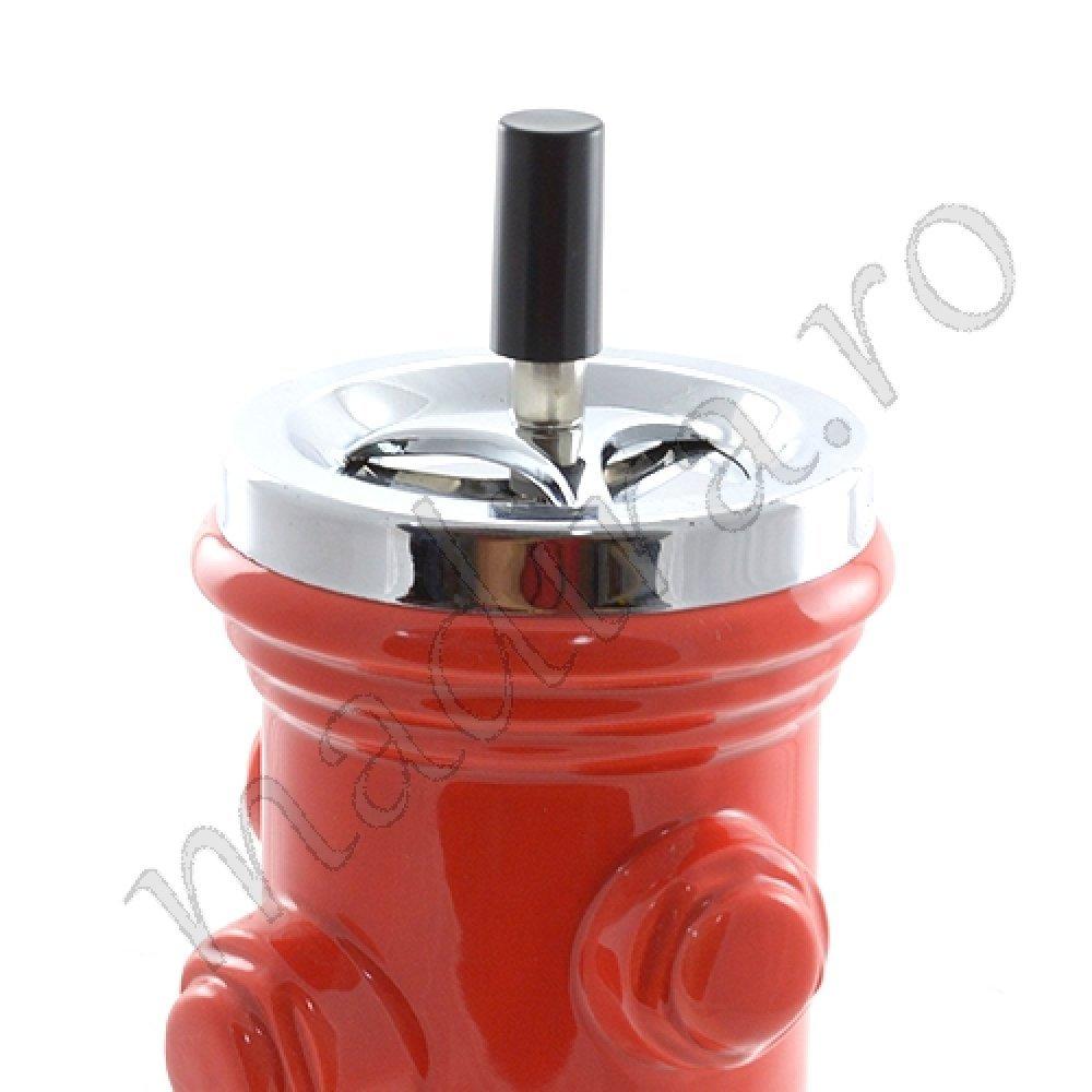 Scrumiera din ceramica automata - hidrant rosu